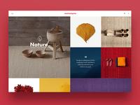 Nanimarquina web design concept