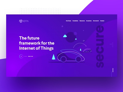IOTA Foundation Website illustration technology colors blockchain website crypto cryptocurrency