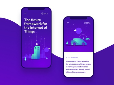 IOTA Foundation website proposal colors interaction typography interface web ux ui