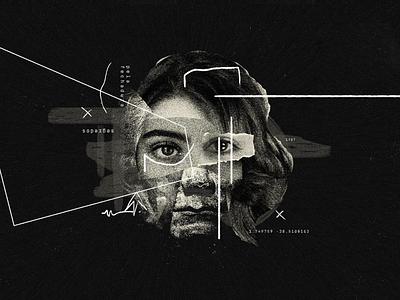 Collage for animation faces darkcollage dark collage colagem concept dark artdirection collage
