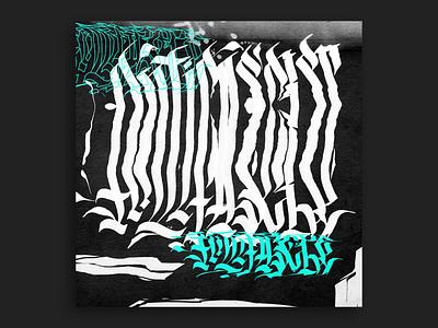 Antifascist - Lettering w/ scanner glitch manual scanning scan stretched type stretched glitch effect glitchart lettering glitch scanner