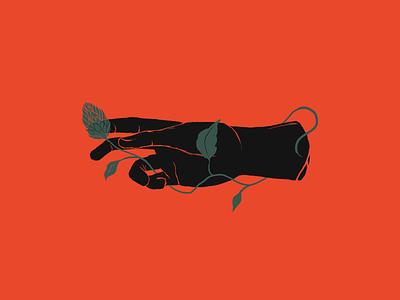Hand with hop - illustration ilustração cerveja mão hand beer hop photoshop illustration