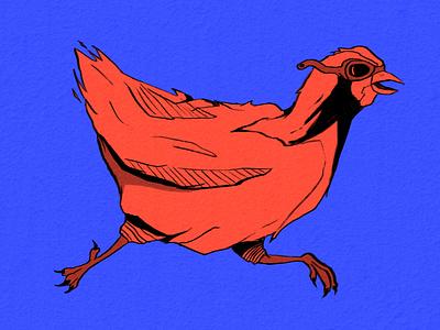 Chicken Illustration galinha nankim drawing chicken ilustração photoshop illustration