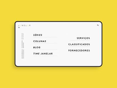 Website UI Concept - Fullscreen Menu menu desktop user interface uiconcept website design web design webdesign website web ui design uidesign ui
