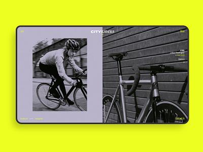 City Riders - Bike Website UI Concept fixed website concept website design web design webdesign websites web ui design uidesign ui  ux uiux ui shop bikeshop ecommerce website home fixed gear fixedgear bike