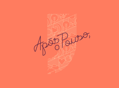 Após o Pouso - lettering and illustration