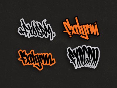 FxdGrm Lettering - Sticker pack