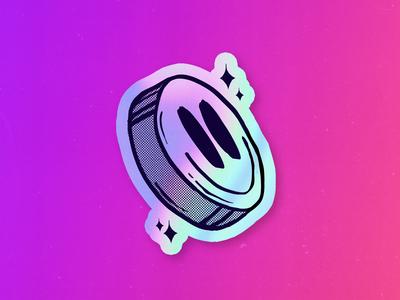 Pill Illustration - Holographic Sticker