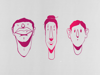Character Heads Illustration