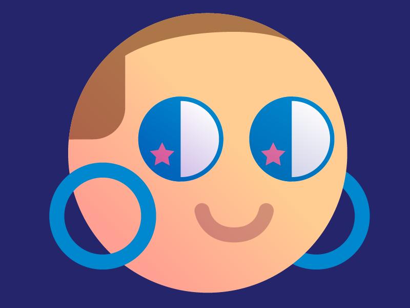 Slack Icon kawaii cute vector self portrait selfie icon slack