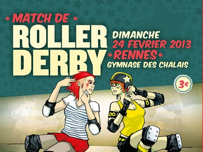 Poster for a Roller Derby event
