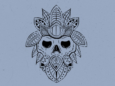Tribal Skull Design