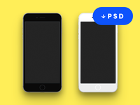 Flat iPhone 6 Mockup Free Download (PSD)