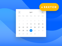 Datepicker Design for App Radar