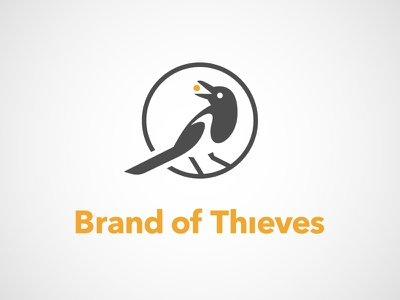 Brand of Thieves logo bird theft steal magpie thief thieves brand