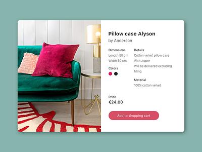#012 E-Commerce Shop (Single Item) pillow shop daily ui 12 daily ui