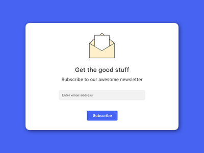 #026  Subscribe newsletter daily ui subscribe. 26 ui daily