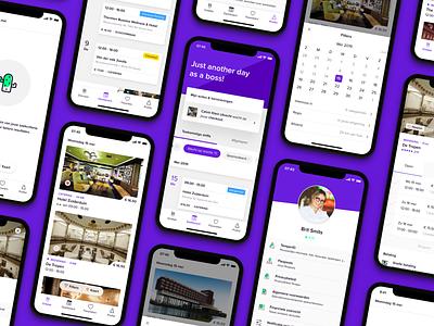 Temper rebrand android green unicorn ui product mobile ios viusal iphone x iphone purple branding rebrand design app temper