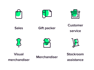 Retail icons for Temper