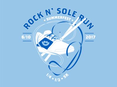 Rock 'N Sole Run Tshirt Concept   Shoelace