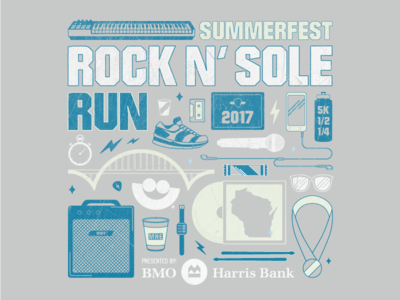 Rock 'N Sole Run Tshirt Concept | Final