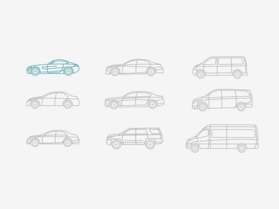 car icons set mercedes benz bmw carrent carservice minivan car sport cars icon