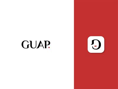 Guap woman icon logo beauty guap