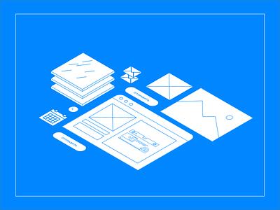 Glass company prototype minimal icons lines wireframe frame prototype webdesign design ui