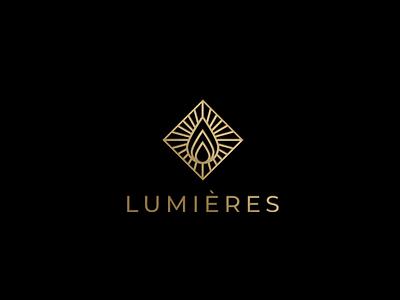 logo lumieres matches candlelight candle logotype logotypedesign logo