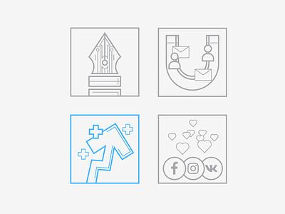 development icons 2 design like seo magnet plus arrows ui icons