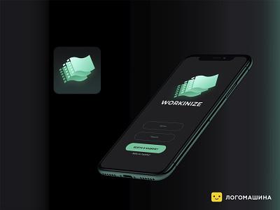 Workinize money app icon logotypedesign logotype logo