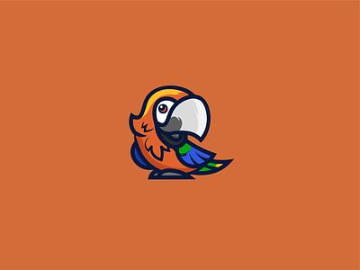 Parrot logo v2 mascot logotypedesign logotype logo bird parrot