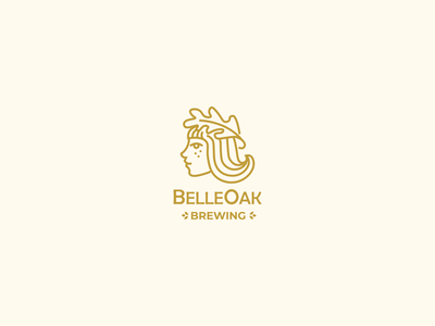 Belle Oak brewery girl belle logodesign logotypedesign logotype logo