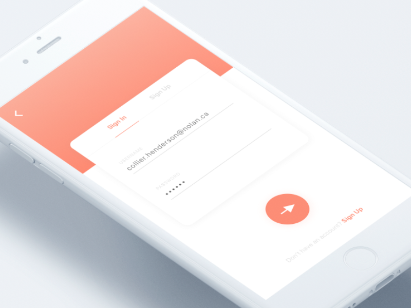 Sign Up – Daily UI Challenge #01 mobile design ux ui user experience user interaction challenge dailyui