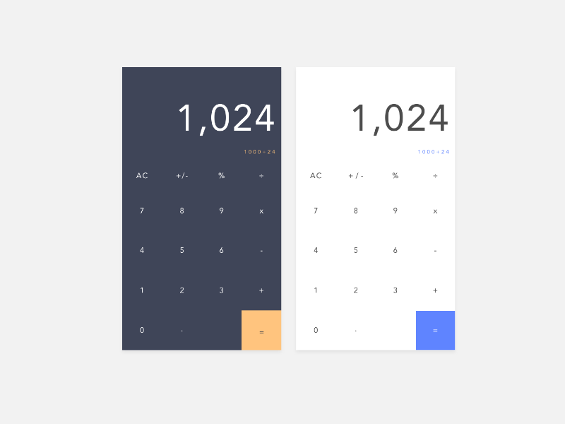 Calculator – Daily UI Challenge #004 challenge daily ui application ios experience user interface interaction app calculator