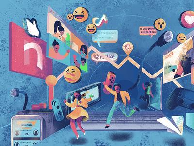 PhilStar 34th Anniversary - Technology newspaper illustration publication design publication design illustration