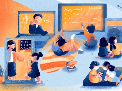 PhilStar 34th Anniversary - Education new normal work from home wfh education publication design publication newspaper illustration illustration design
