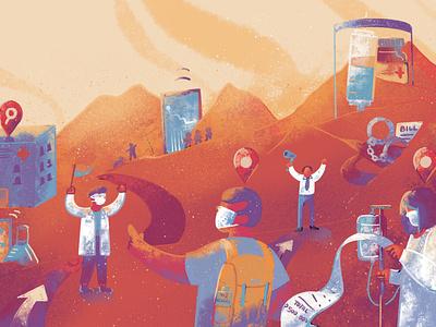PhilStar 34th Anniversary - Science science covid19 publication design publication newspaper illustration illustration design