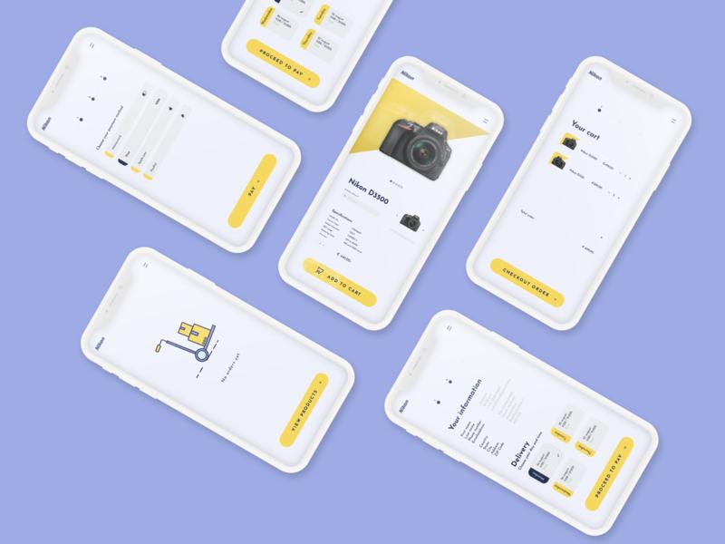 Nikon - Design challenge camera nikon illustration web app ux ui design
