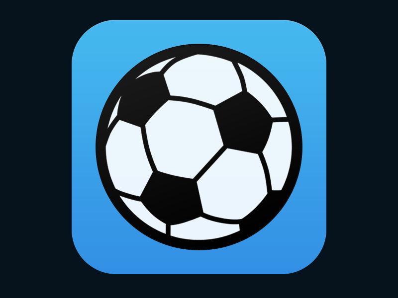 Soccer News App Icon sports soccer icon app ios wip