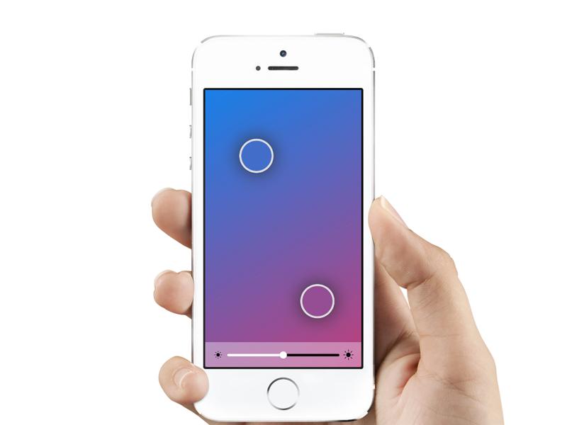 Hue Remote iphone prototype hue framer
