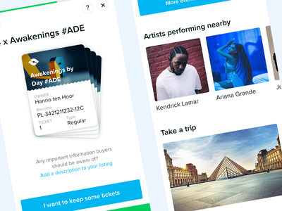 TicketSwap Sell & Discover feed discovery sell tickets app iphone