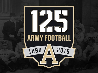 125 Years of Army Football logo anniversary year 125 army commemorative