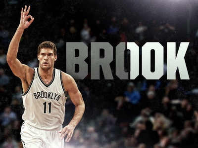 Brook Lopez 10,000th Point nba graphic typography milestone graphic basketball brooklyn nets
