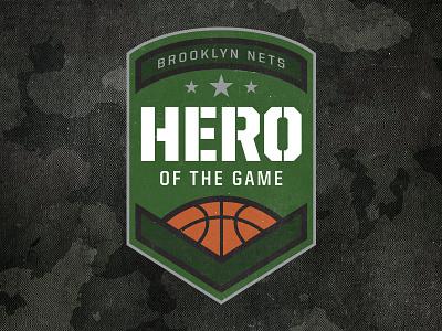 Hero of the Game military logo hero basketball brooklyn nets