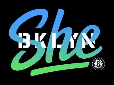 She BKLYN design typography branding logo vector brooklyn brooklyn nets