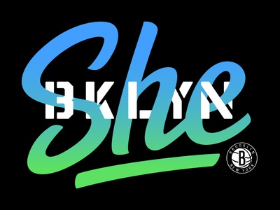 She BKLYN design typography branding logo vector brooklyn brooklyn nets
