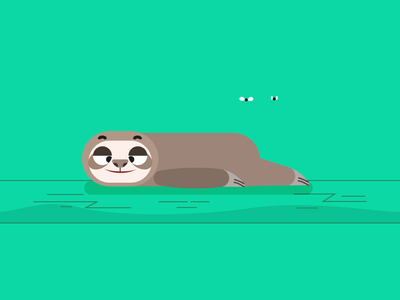 Smelly sloth 🦥 motion design illustration vector gif cute simple creative animation illustrator design