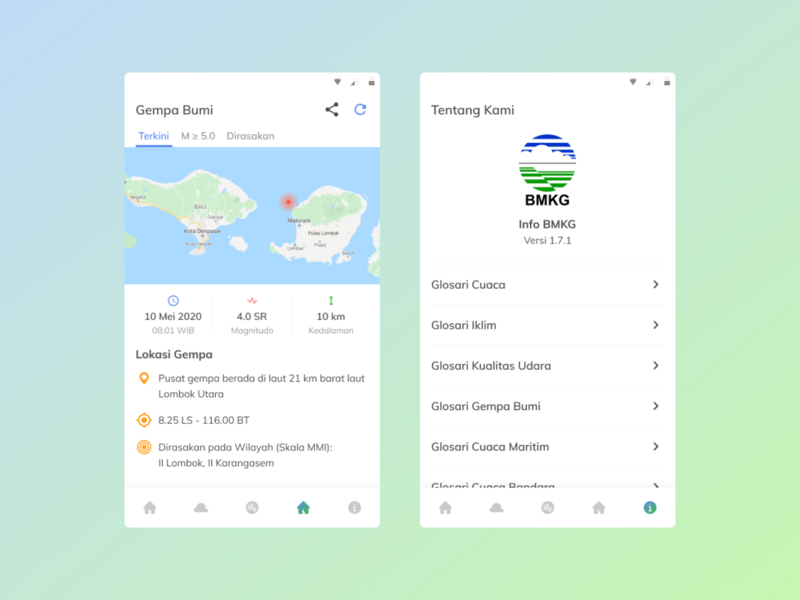 [Mobile Apps] Redesign Info BMKG redesign design ui mobile app design mobile app ui design