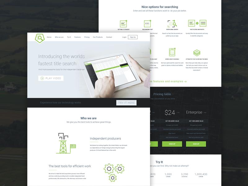 Landing website